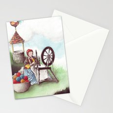 Mother Hulda - Spinning on the high road Stationery Cards
