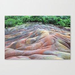 7 coloured earth Mauritius Canvas Print