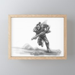 Charging Into History Framed Mini Art Print