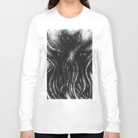 "cthulu Long Sleeve T-shirts featuring Cthulu ""He is Risen"" H.P. Lovecraft by judgehydrogen"