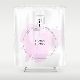 Round Purple Perfume Shower Curtain
