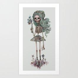 Grim Girlfriend Art Print