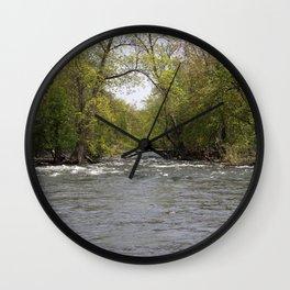Springtime on the Fox River Wall Clock