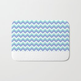 Blue Green Chevron Bath Mat