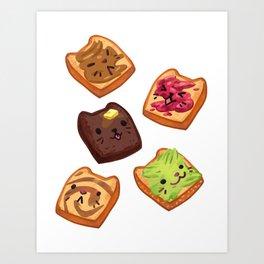 Cat Toasts Art Print