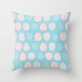 Pastel Brains Pattern Throw Pillow