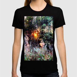 Sunset Forest : Where The Fairies Dwell T-shirt