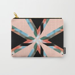 Three Triangles Geometric in Black Carry-All Pouch