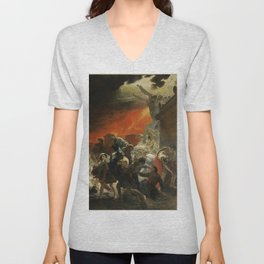 Karl Briullov - Last Day of Pompeii Unisex V-Neck