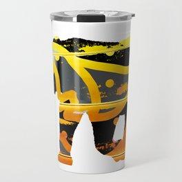 golden silver elephant abstract digital painting Travel Mug