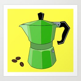 Green Rainbow Espresso Art Print