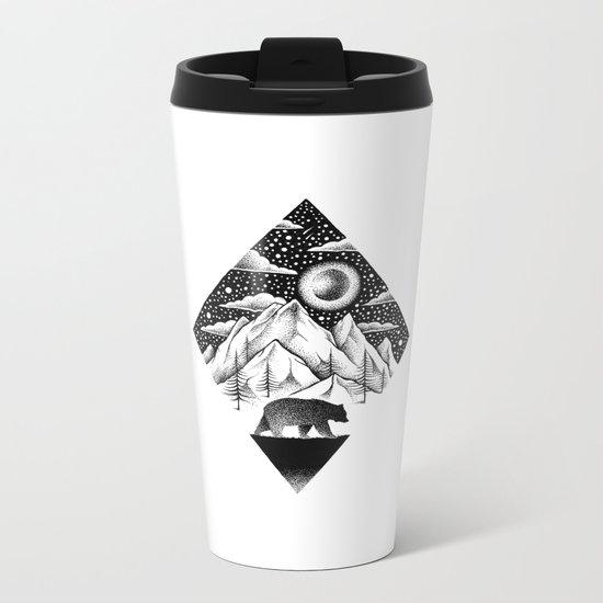 LONELY BEAR Metal Travel Mug