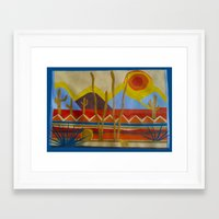 desert Framed Art Prints featuring Desert by Abundance