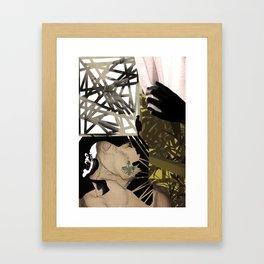 Milk cartons & bongs make her happy. Framed Art Print