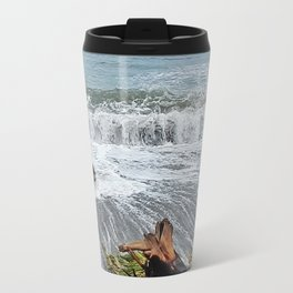 Sea and driftwood mix it up Travel Mug