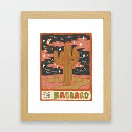 Cactus Tarot Cards- Saguaro Framed Art Print