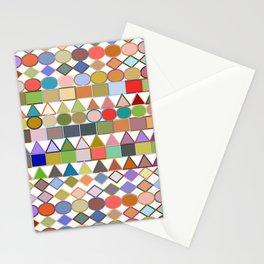 Modern Tribal Geometric, Multi Pastels on White Stationery Cards