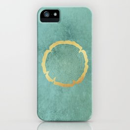 Gold Foil Tree Ring iPhone Case