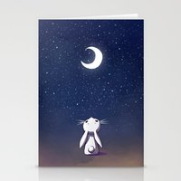 freeminds Stationery Cards featuring Moon Bunny by Freeminds