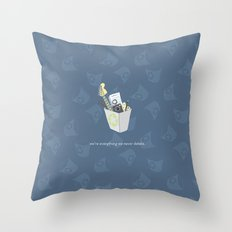 Never Delete Throw Pillow