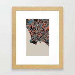 Los Angeles Multicoloured Print Framed Art Print