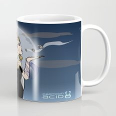 Kiss of Death - Evil Queen Blowing Kisses (Skulls with Wings) Coffee Mug