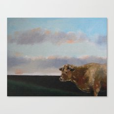 cow thinking about grass Canvas Print