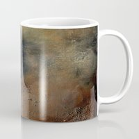 imagerybydianna Mugs featuring abstract constructs in villette by Imagery by dianna