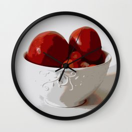 Tomatoes in Bowl | Still Life | Food Photography | Nadia Bonello Wall Clock