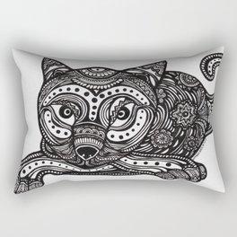 Pretty Cat - Elegant Cat -Jazzy Cat - Snazzy Cat Rectangular Pillow