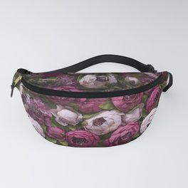 Dark and light pink peonies Fanny Pack