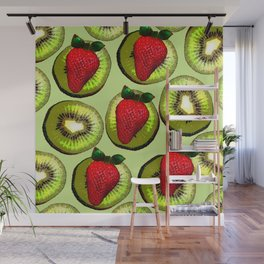 KIWI AND STRAWBERRY COCKTAIL Wall Mural