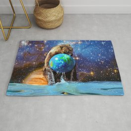 Give Planet Earth A Bear Hug! Rug