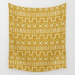 Mustard Mud Cloth Wall Tapestry
