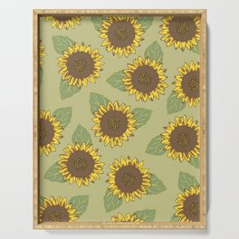 Vintage Sunflowers Serving Tray