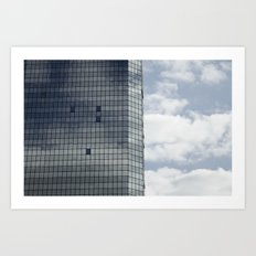 Reflections and clouds Art Print