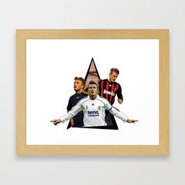 Youtriangle ∆ David Beckham Framed Art Print