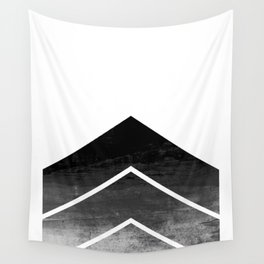 Black Ombre Chevron Wall Tapestry
