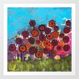 Bloomin Chaos Art Print