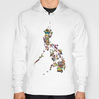 philippines Hoodies featuring 7,107 Islands | A Map of the Philippines by QUEQZZ