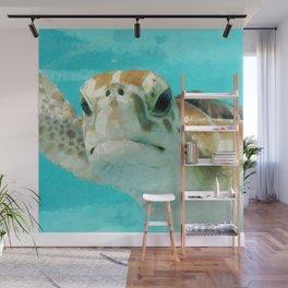 Geometric Sea Turtle Wall Mural