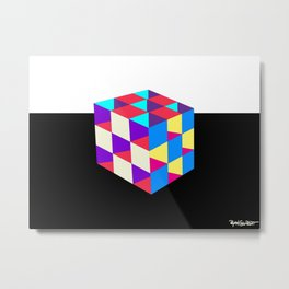 3D Cube of the Dimensionally Sound Metal Print
