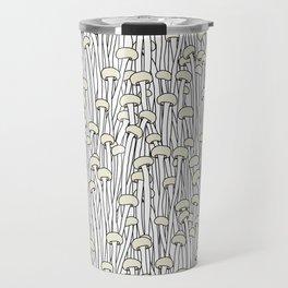 Enokitake Mushrooms (pattern) Travel Mug