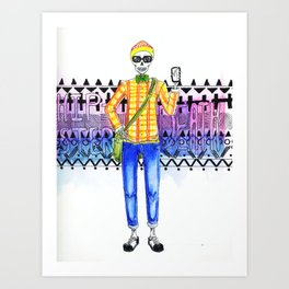 Hipster Death Art Print