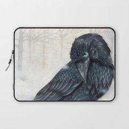 El ve a través del cuervo y controla la niebla Laptop Sleeve