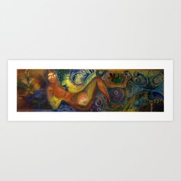 psychedelic woman 2 Art Print