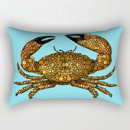 Stone Rock'd Stone Crab By Sharon Cummings Rectangular Pillow