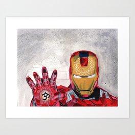 iron man for peace Art Print