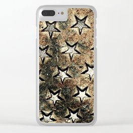 Serie Texturas - CleMpasS - Estrellas Clear iPhone Case