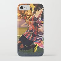 neymar iPhone & iPod Cases featuring Neymar by Max Hopmans / FootWalls
